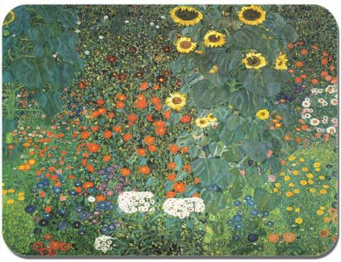 Gustav Klimt Farm Garden with Sunflowers Mouse Mat. High Quality Art Mouse Pad